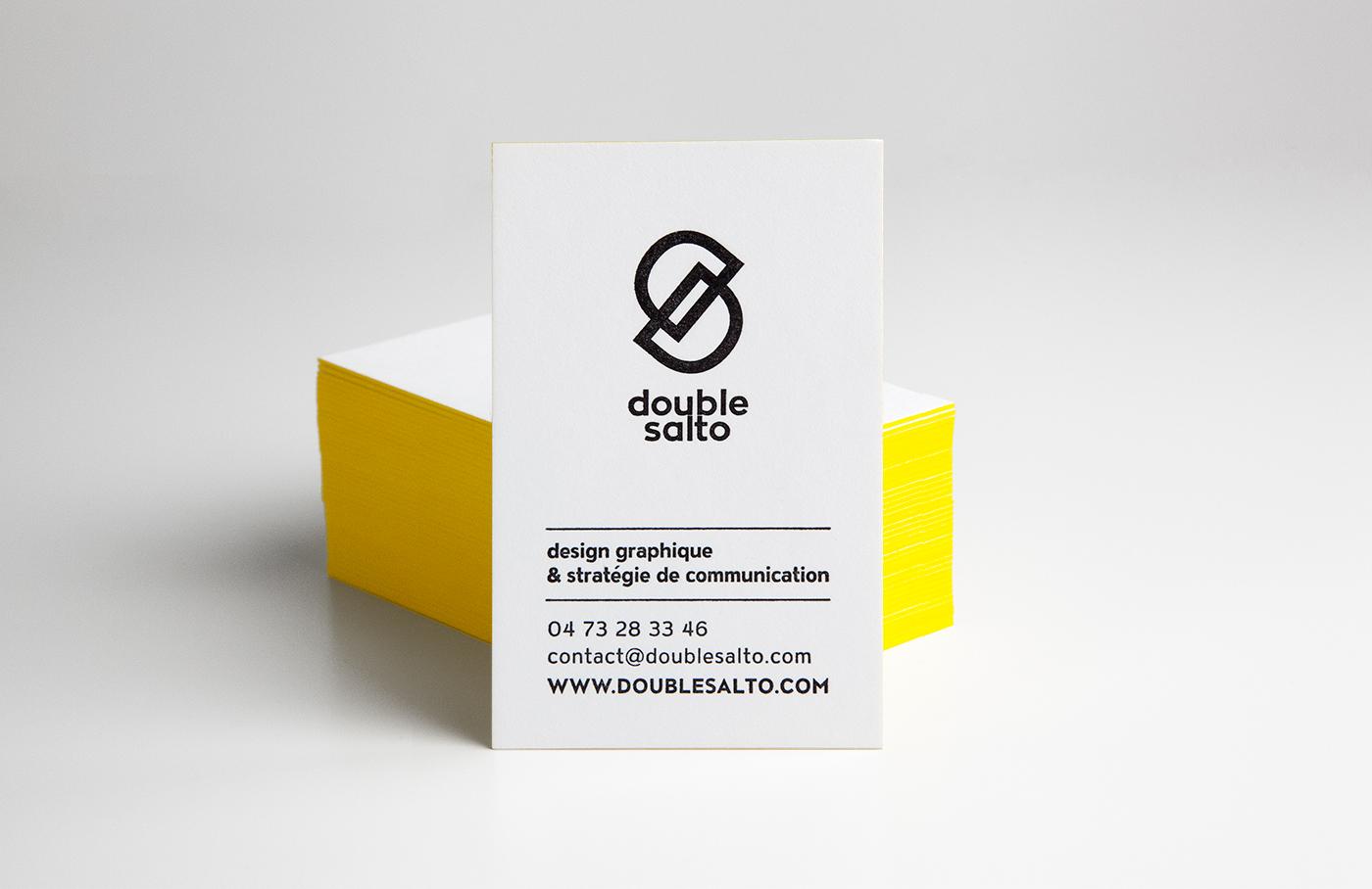 Double Salto Carte De Visite